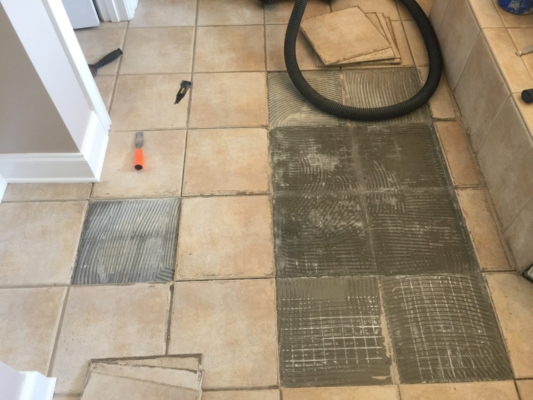 Replace ceramic tile floor